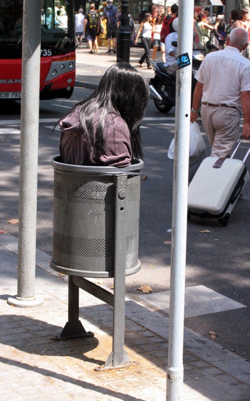 Trash Girl (Barcelona) by Mark Jenkins
