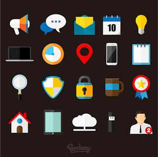 ビジネス アイコン セット Set of business icons イラスト素材