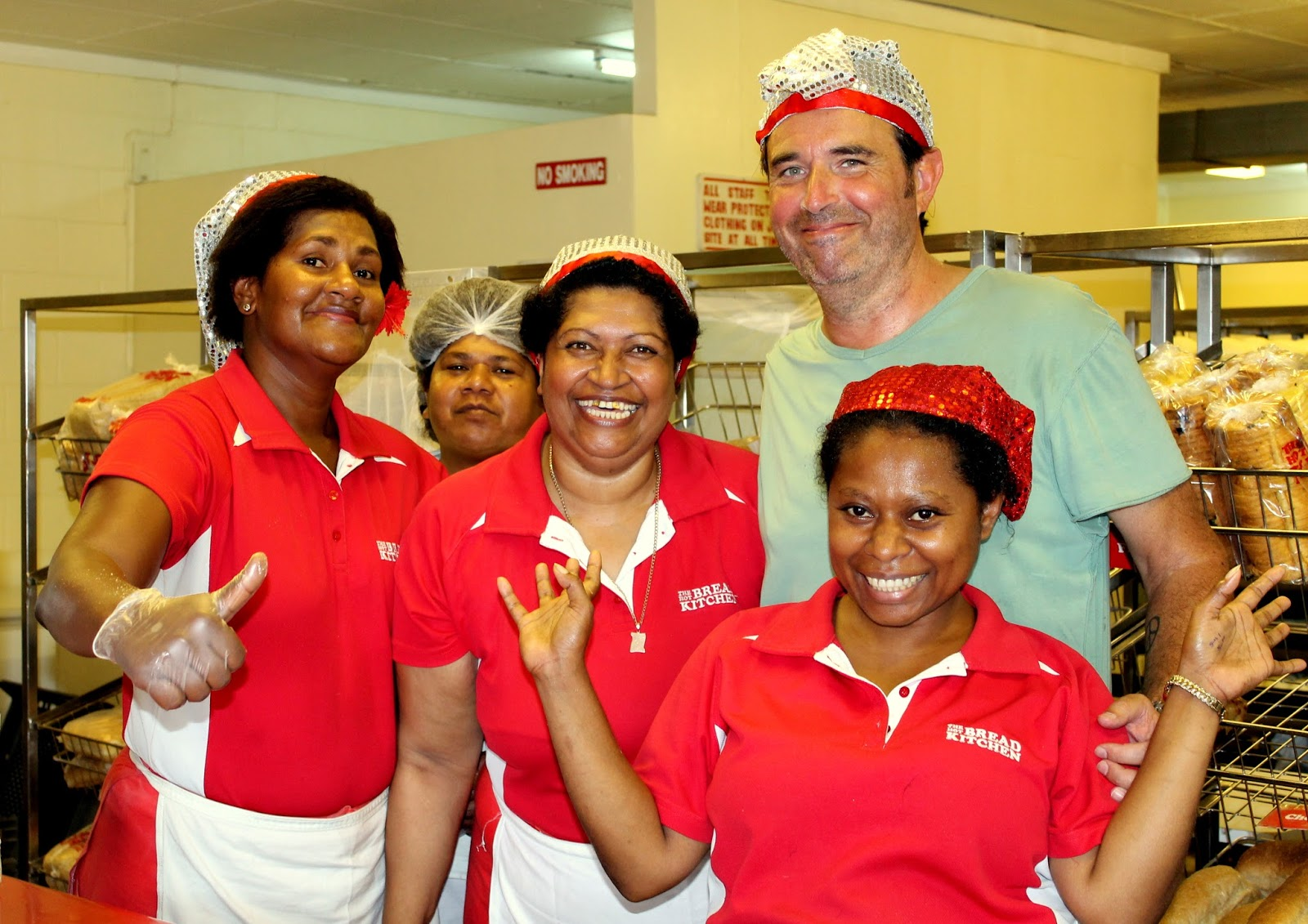 as i was telling the ladies at hot bread kitchen in sigatoka of my leaving fiji the following day they insisted i join them for a photo on their side of - Hot Bread Kitchen