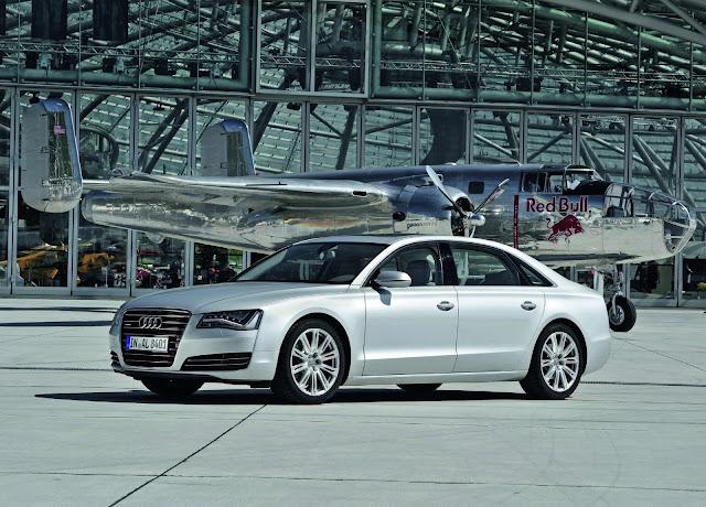 Silver Audi A8 L Wallpaper