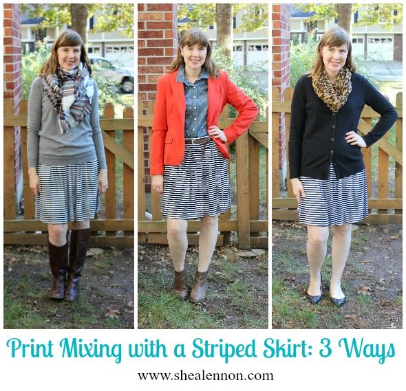 How to mix stripes with other patterns - 3 looks | www.shealennon.com