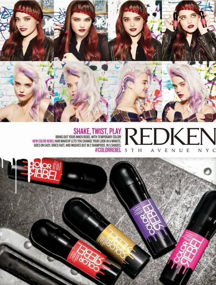 Color Rebel Redken - Maquilhagem colorida para cabelos