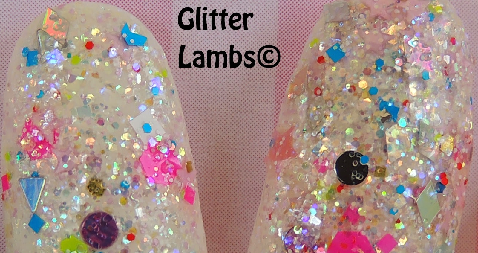 """Bee-Mine Jesus""  Valentine's Day Glitter Topper Indie Nail Polish  By Glitter Lambs"