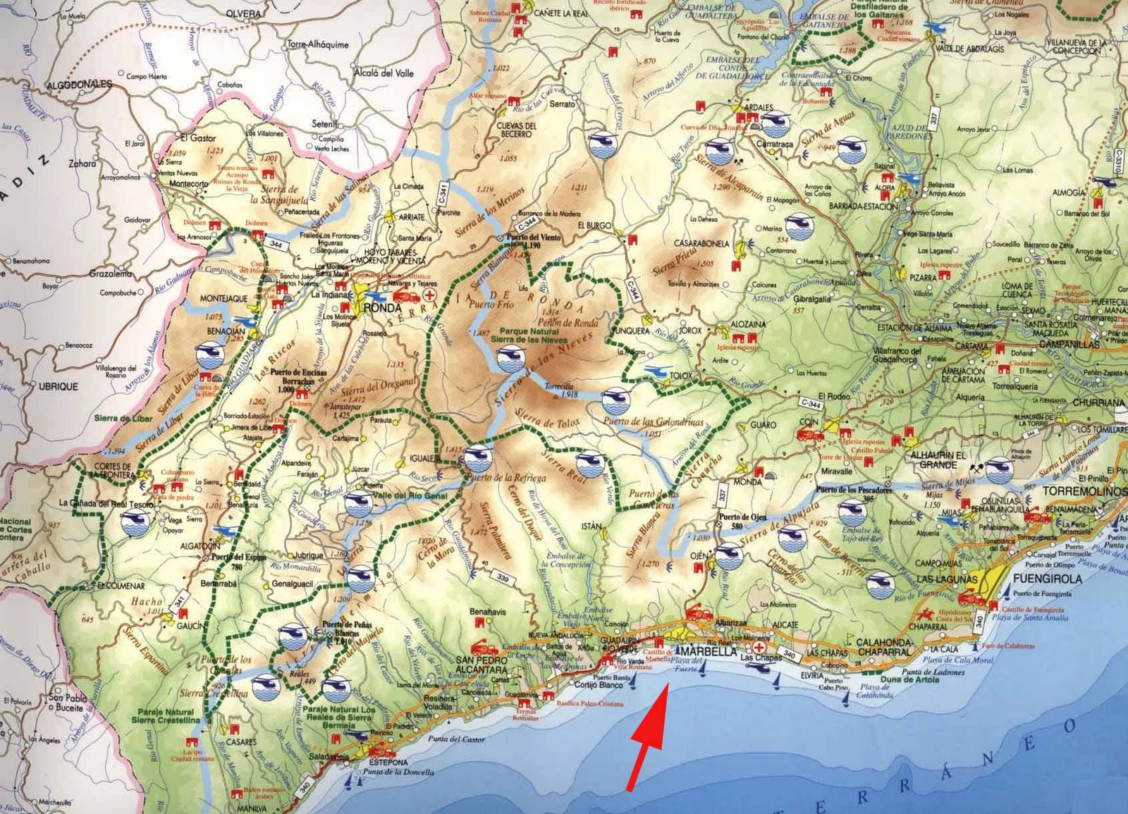 Marbella Spain  City pictures : Malaga Carte de la ville | Carte Espagne Ville Région politiques