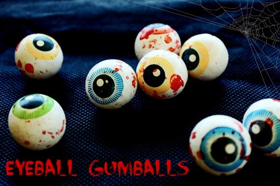 Eyeball gumballs for your Halloween Party @ Love That Party. A great party site full of diy party ideas, cakes, recipes, party decorations and party printables. www.lovethatparty.com.au