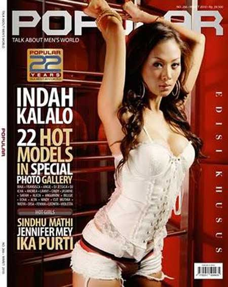 Indah Kalolo Popular - Sexy Celebrity for Magazine photoshoot