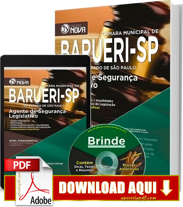 Apostila Prefeitura de Barueri Agente de Segurança Legislativo PDF Grátis Download 2016