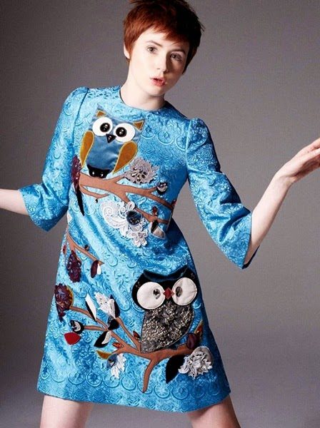 Dolce & Gabbana AW 2014 Jeweled Owl Dress