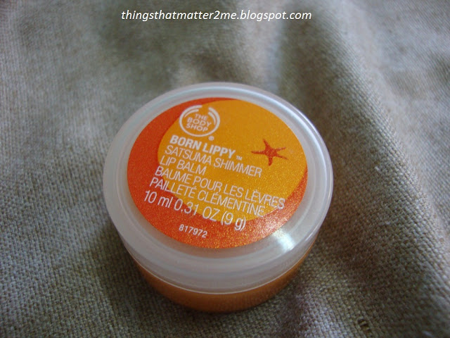 The+Body+Shop+Born+Lippy+Satsuma+Shimmer+Lip+Balm+Swatch+Review