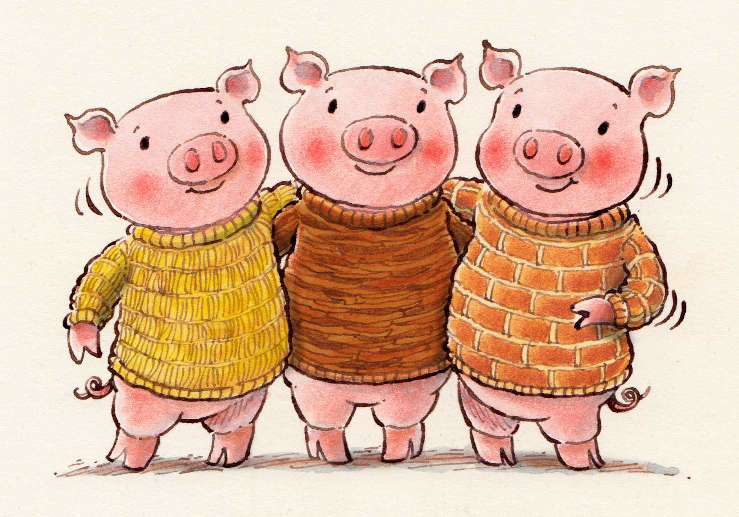 Mary's Illustration Blog: Three Little Pigs