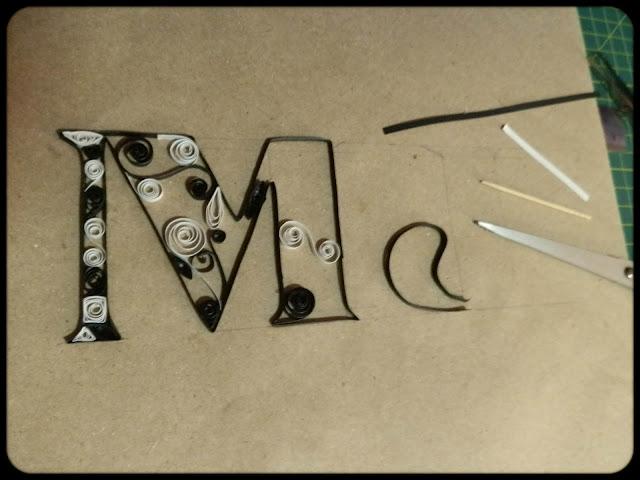 Quilled Monogram
