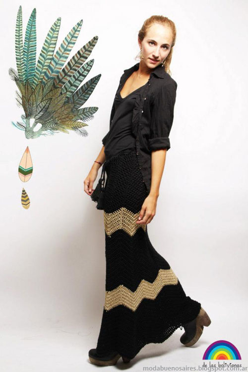 Maxifaldas invierno 2013 Moda De las Bolivianas