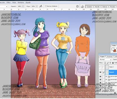 Dibujo en proceso en photoshop