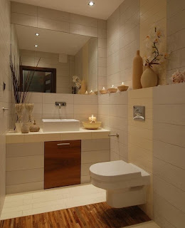 Ideas para decorar ba os peque os colores en casa - Decorar bano pequeno ...