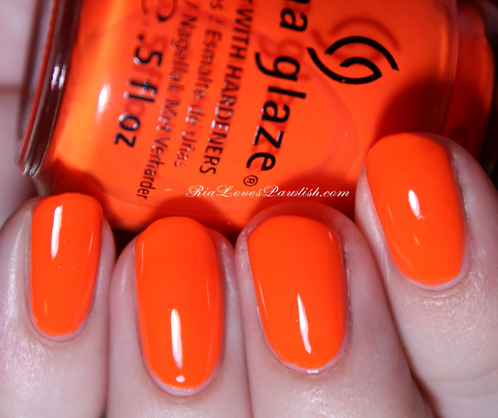 Ria Loves Pawlish: China Glaze Orange Knockout (Neon)