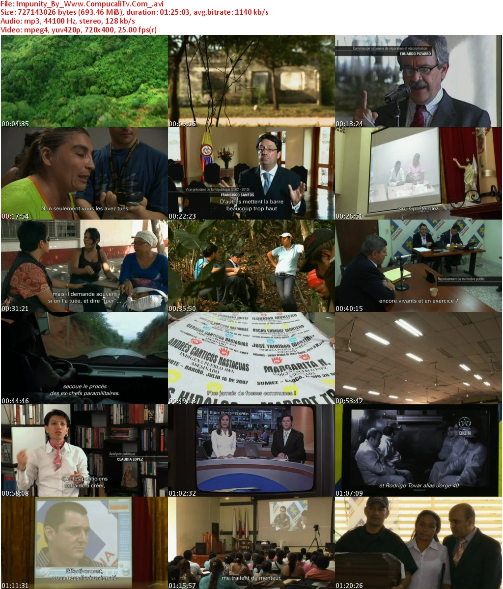 Impunity Documetal Colombiano DVDRip [Español Latino] Descarga 1 Link