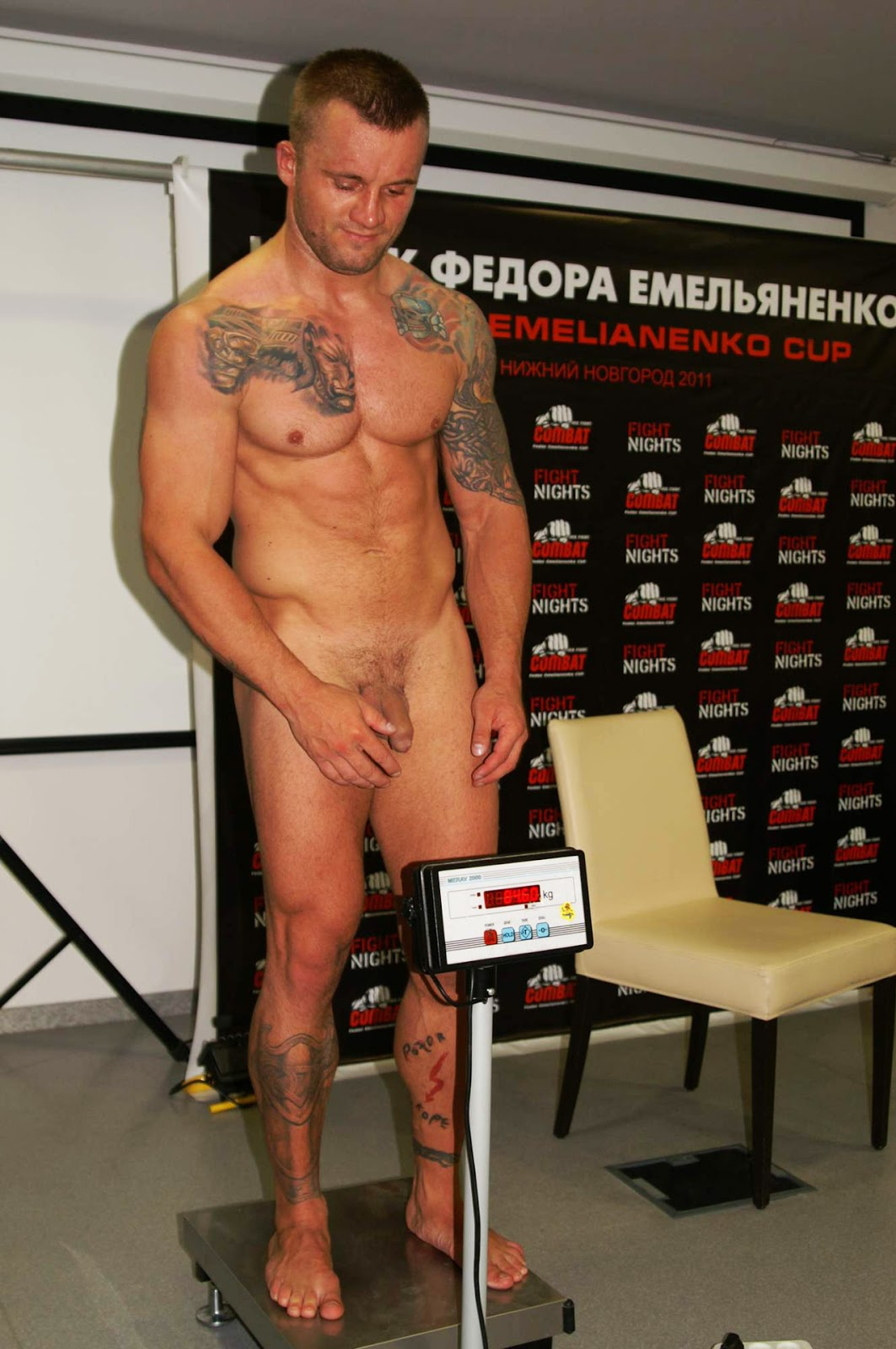 Girl naked boxer weigh