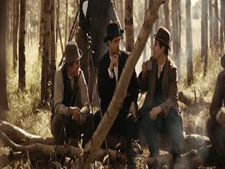 Brad Pitt as Jesse James, Sam Rockwell as Charley Ford, Jesse James, The James Gang, Directed by  Andrew Dominik