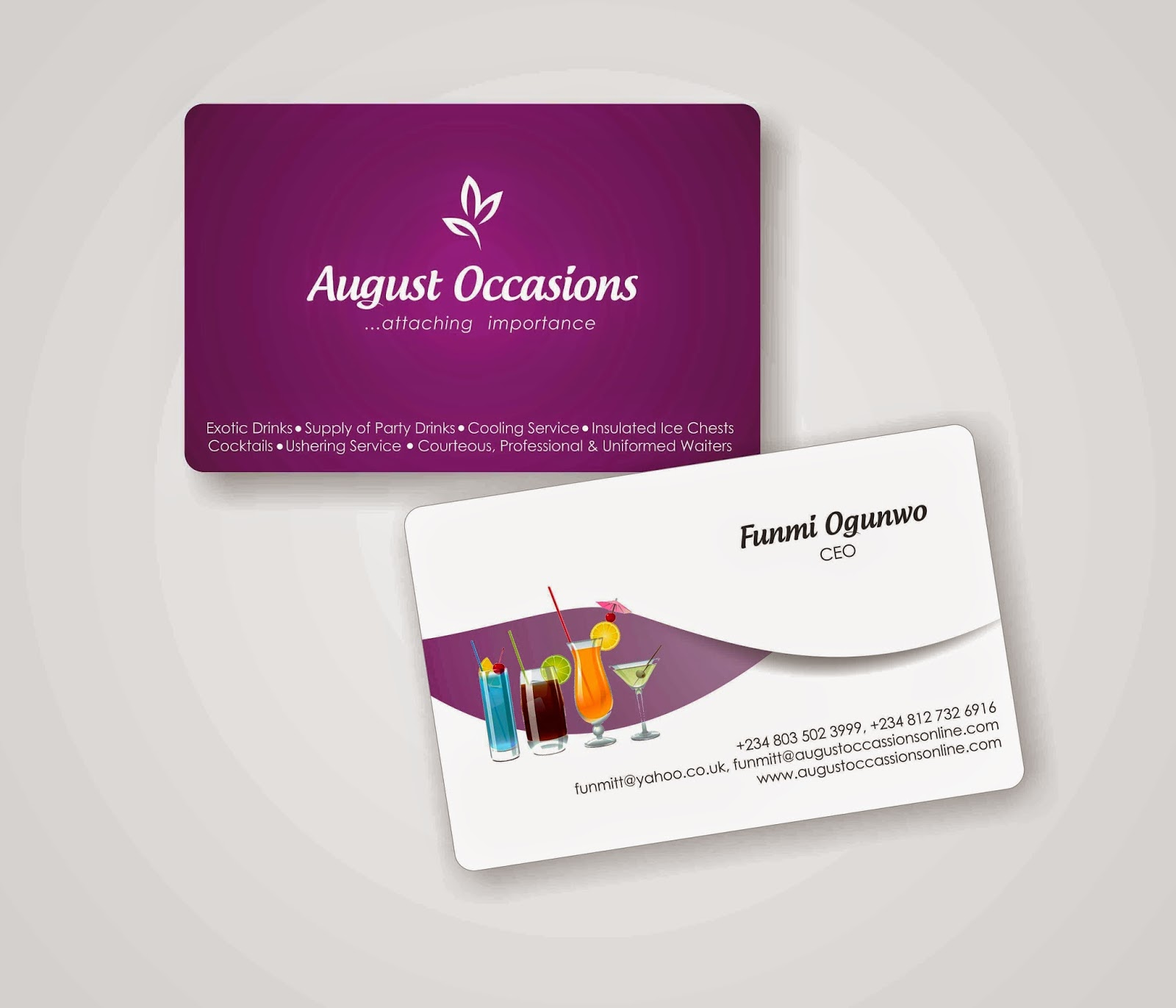 Coreldraw visiting card - Business Card Design Business Card Design For August Occasions Events Management Designed With Coreldraw