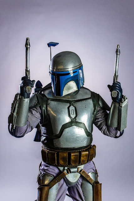 Jango Fett with blasters drawn