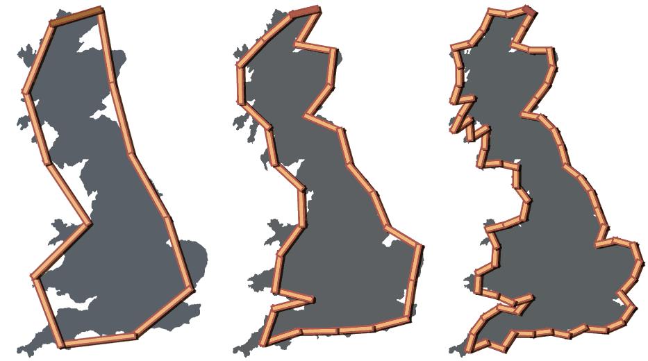 coastline paradox, the coastline of the British isle