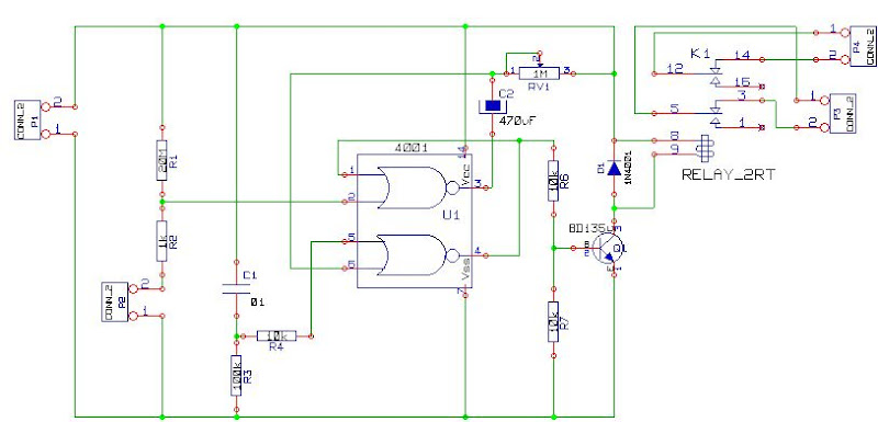 CD4001 based on Car Alarm Circuit