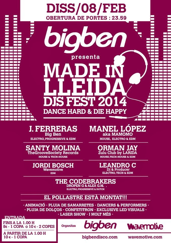 Made in Lleida DJs Fest @ BigBen 08 Feb - Manel López aka mamomo
