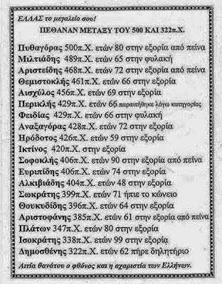 οι μεγάλοι Αρχαίοι Έλληνες