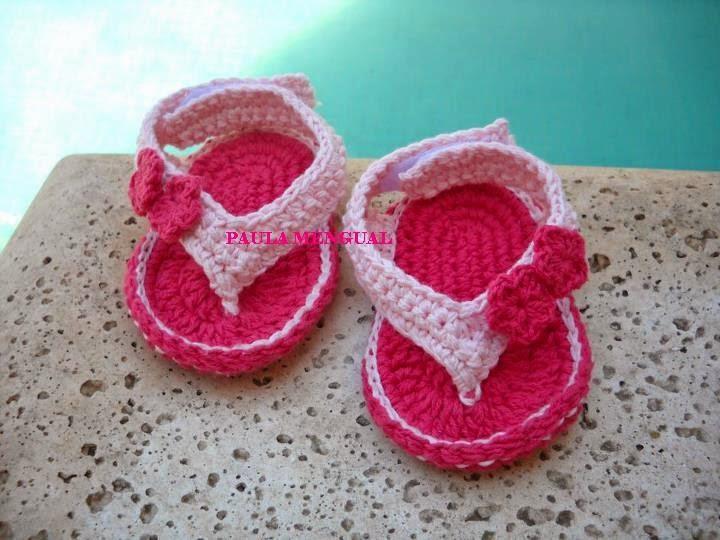 064ade51b Paula Mengual Tejidos de Autor  Tutorial Ojotas para bebé (Crochet)