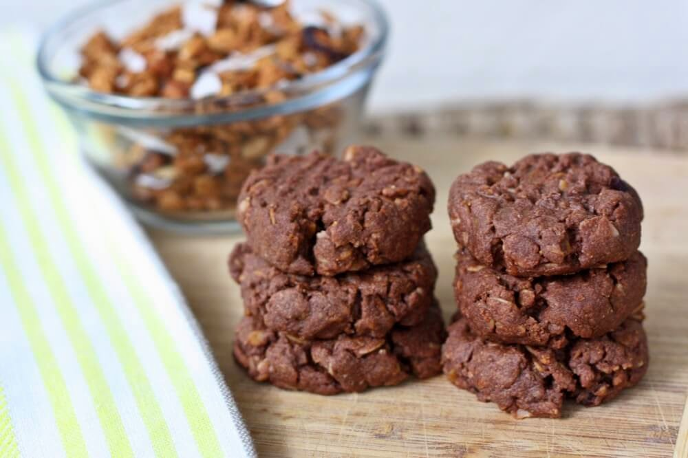 Chocolate Peanut Butter LOVE Cookies, Eating Bird Food, 120 calories