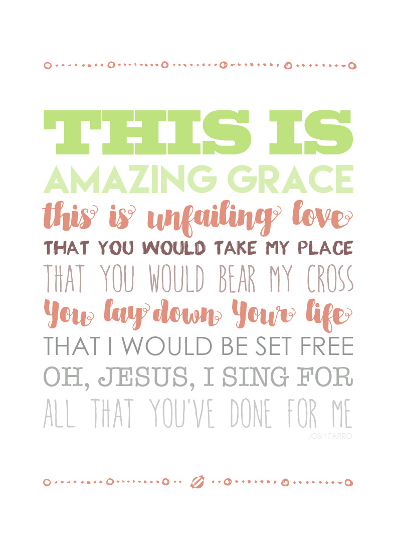 LostBumblebee ©2015 MDBN THIS IS AMAZING GRACE LYRICS  :: FREE - Donate to Download - Printable :: Home Decor :: Personal use Only.