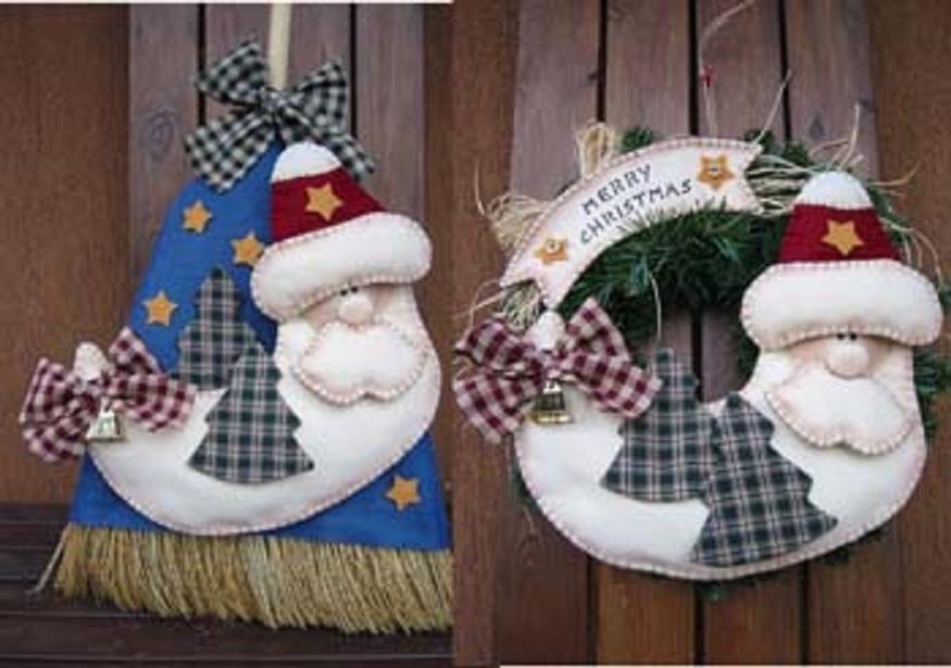 Fabuloso Artesanato diversão e prazer: Enfeites de natal em feltro com moldes FX48