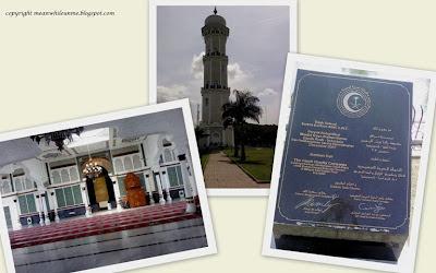 Inside mosque, menara, dan Monumen