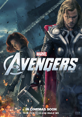 The Avengers International Character Movie Posters - Scarlett Johansson as Black Widow & Chris Hemsworth as Thor