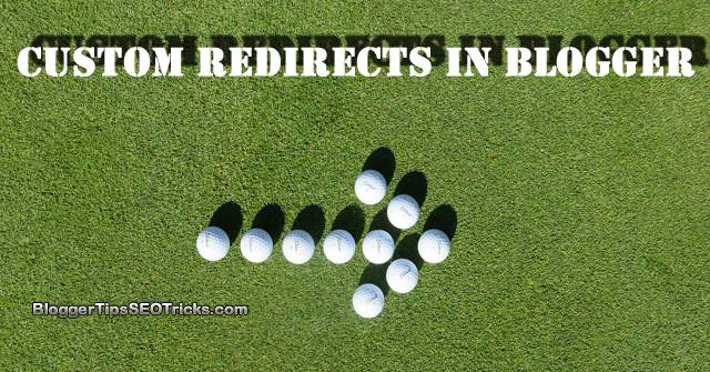guide to redirect in Blogger posts