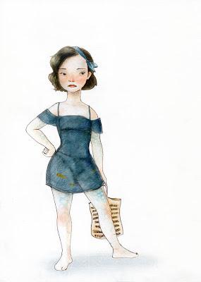 autoretrat self-portrait aquarel·la watercolor il·lustració illustration barcelona