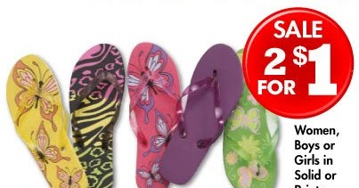 313fccb45670b4 Packing Hope  Family Dollar  50 Cent Flip-Flops!