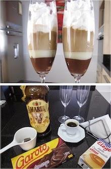 Experimentando uma bebida com café