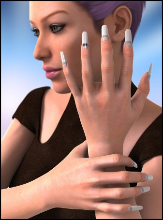 Wicked Fingernails for Genesis 2 Female