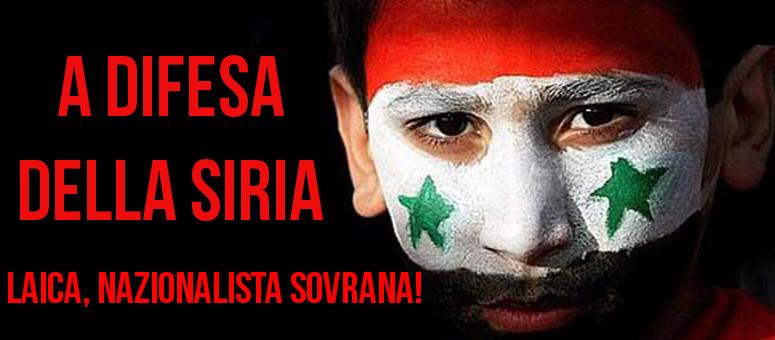 Schierati per la Siria!