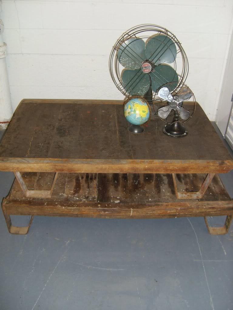 Vintage industrial simmons metal side table Dresser Wonderfully Patinaed Vintage Industrial Railroad Carts Palletscoffee Tables Oak Slats Iron Base Birtan Sogutma Sold Bongrande