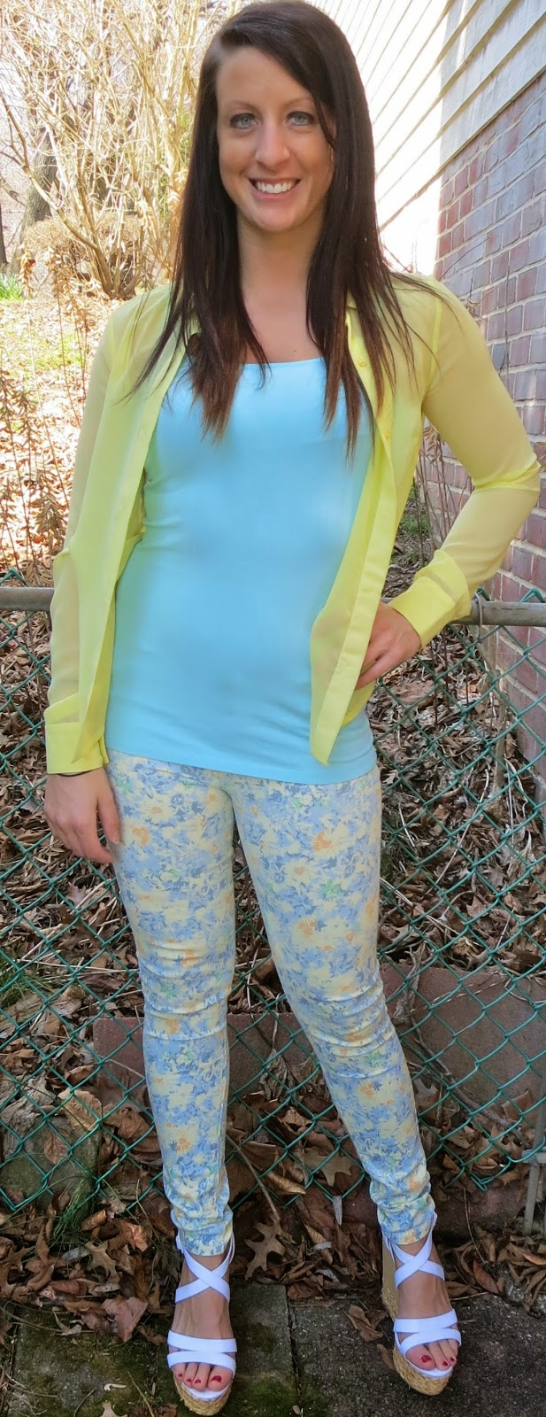 yellow blouse, spring colors, floral, floral jeans, floral pants, outfit, the girl that loves,  fashion