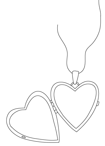 how to draw a heart with a lock
