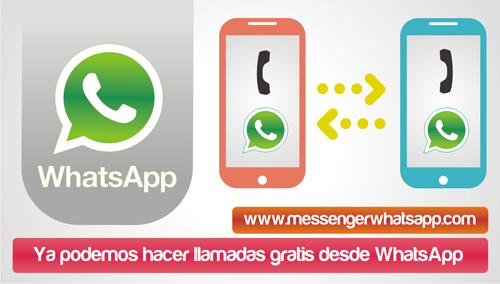 Ya podemos hacer llamadas gratis desde WhatsApp