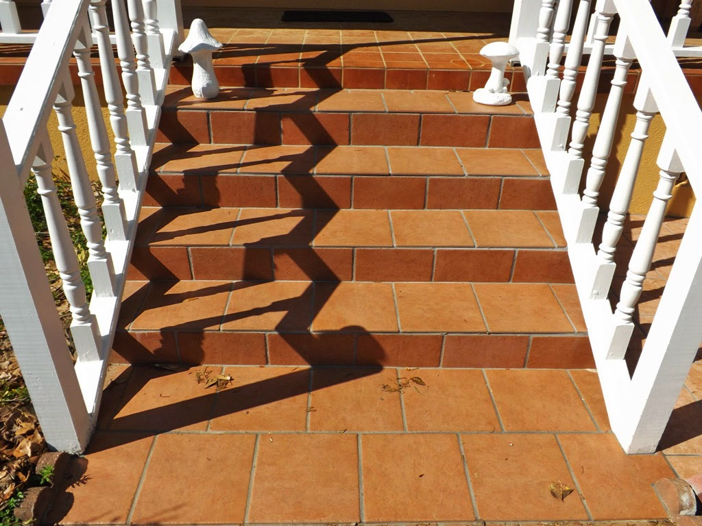 Mariette 39 s back to basics our patio tiles in the front - Basics mosaic tiles patios ...