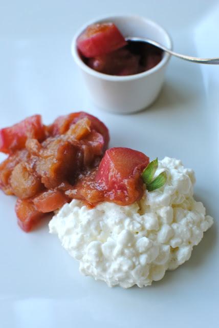 recept, frukost, rabarber, kompott, keso