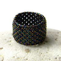 купить ажурное кольцо из бисера анабель