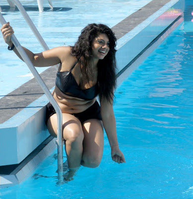 mallu auntie swathi verma spicy swimsuit hot photoshoot