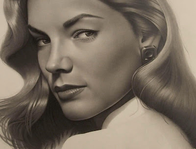 old actress Lauren Bacall Sketch Wallpapers