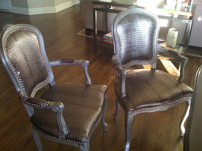 kcfauxdesign com a pair of french elegant chairs with a kick